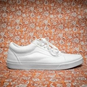 Vans Old Skool Canvas Shoes True White Size: 10 M